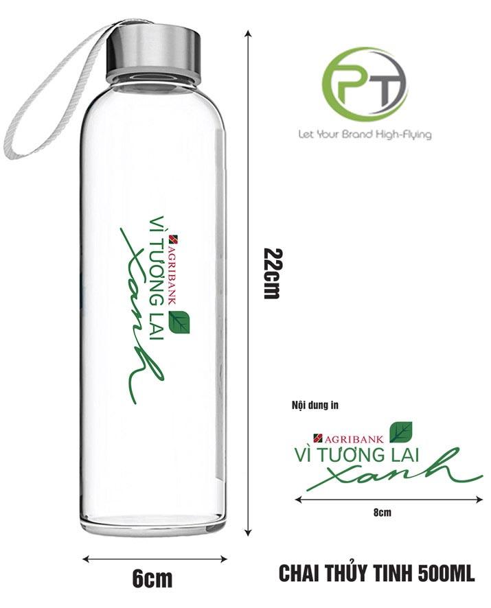 in logo thương hiệu lên bình nước quà tặng